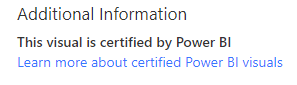 certified Custom Visuals Message