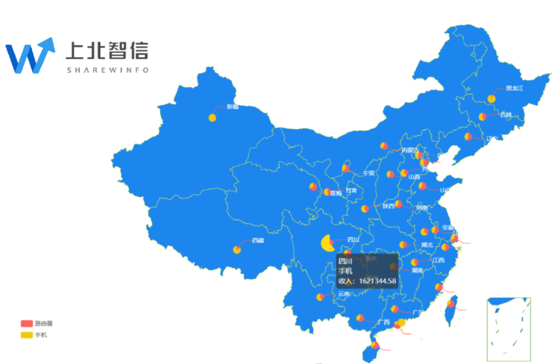 china Scatter Map