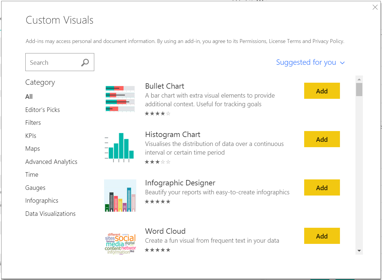 customVisualStore Power BI Desktop July Feature Summary