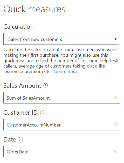 salesFromNewCustomers Power BI Desktop October Feature Summary