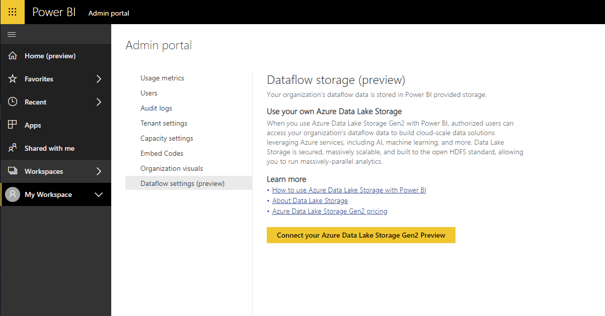 58F9302A 6887 470B 92D2 D41EDF19CF92 Power BI Dataflows and Azure Data Lake Storage Gen2 Integration Preview