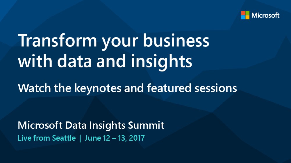 MDIS Livestream Banner Twitter 1000x560 Live from Seattle! Watch the Microsoft Data Insights Summit keynotes and featured sessions